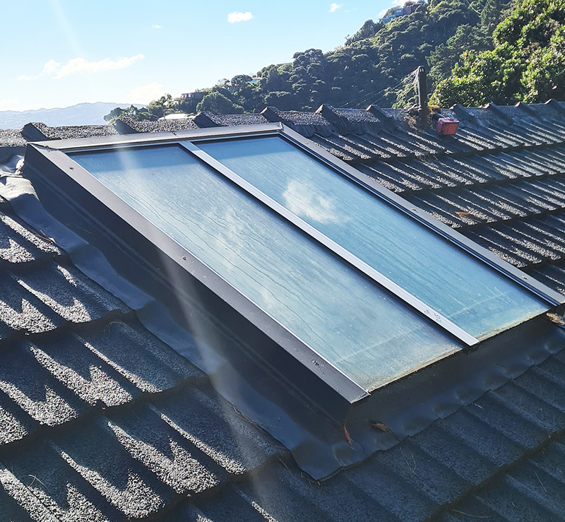 Before two panel skylight
